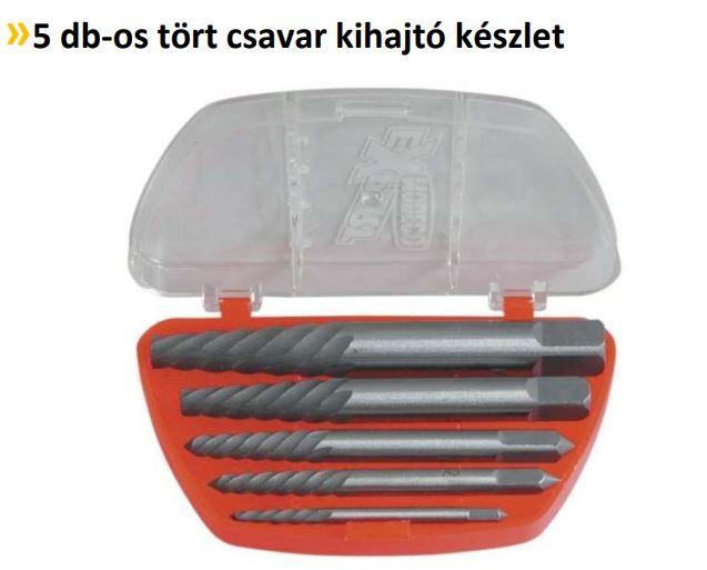 Törtcsavar kihajtó 5 db-os készlet, M3-M18  N62390