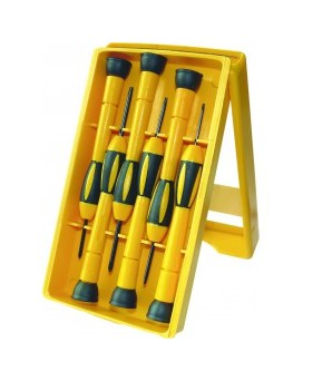 Csavarhúzó készlet műszerész 1.  6 db-os Modeco
